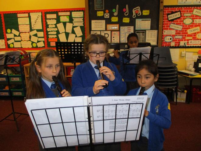 Flute and second recorders.