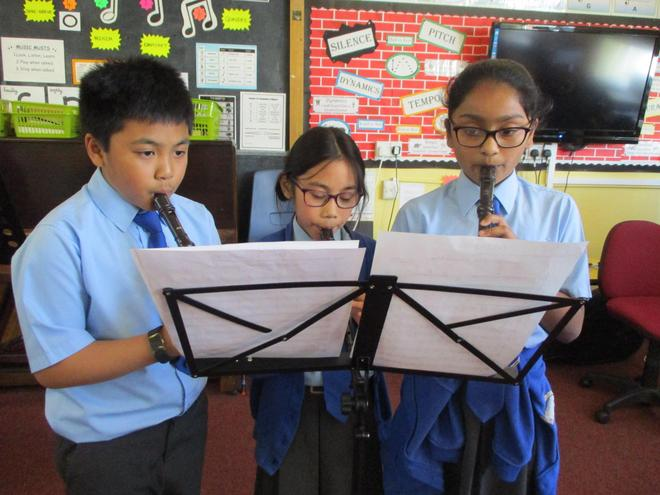Recorder players.