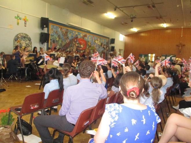 We enjoyed the John Fisher Orchestra.