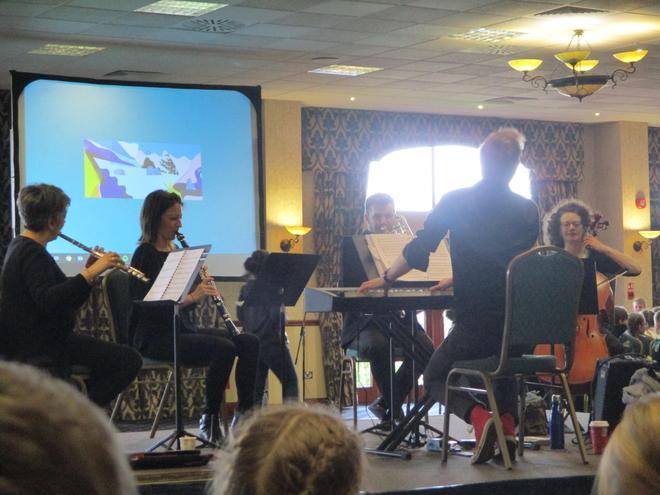 The mini orchestra.