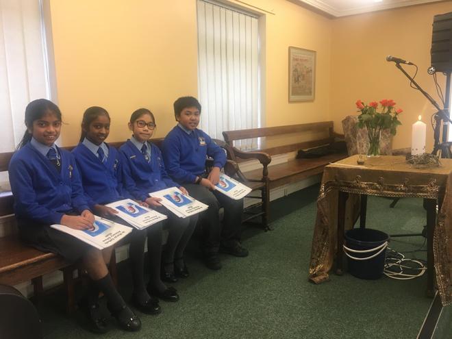 Experienced choir members representing our school.