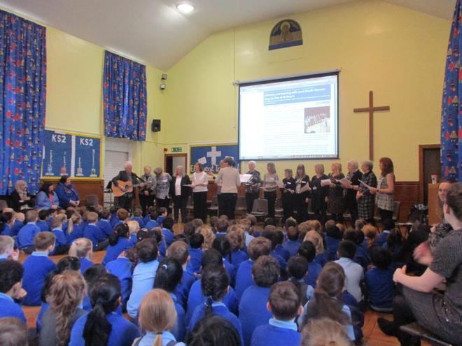 LMW Community choir teach us a new song.