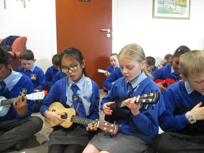 We sang and played.