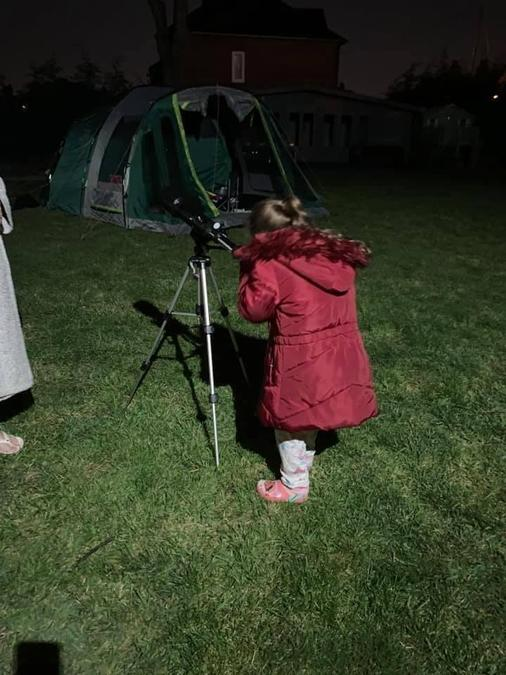 Marnie (Yr 1) enjoyed watching the stars with her telescope!