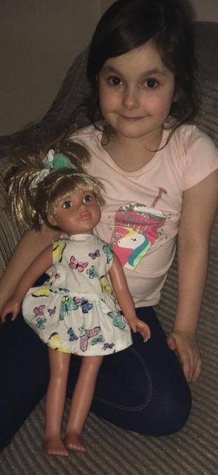 Lilia (Yr 3) has been learning how to sew and even upcycled this dress for her barbie doll