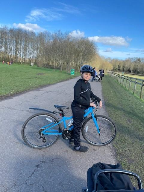 Arjun (Yr 5) learnt how to ride his bike with confidence this lockdown!