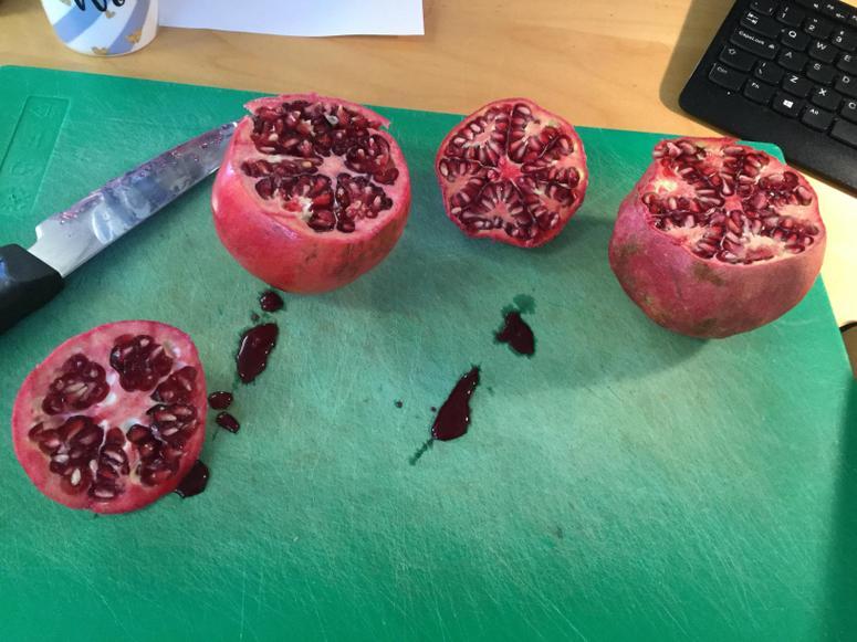 Tasting pomegranates