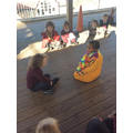 We came together outside to act out the story of Diwali.