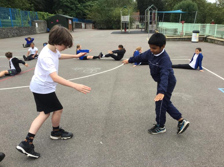 Practising our routines