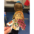 We used collaging to make different outfits.