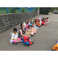 World Book Day - We joined the whole school in the playground for a costume parade!