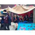 Den making fun during outdoor learning