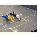 We went on a number hunt in the playground.