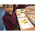 Creating shape animals and naming 2D shapes