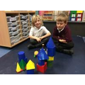 Building with shapes.