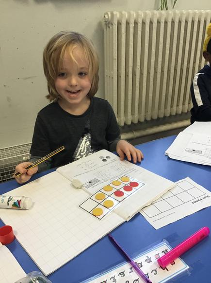 The children worked hard using ten frames to find number bonds to many different numbers!