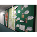 We have been busy thinking about what we like and don't like. Here is our corridor display
