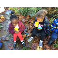 As a reward, we had hot chocolate in our school garden.