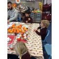 We looked at the tradition of Christingles.