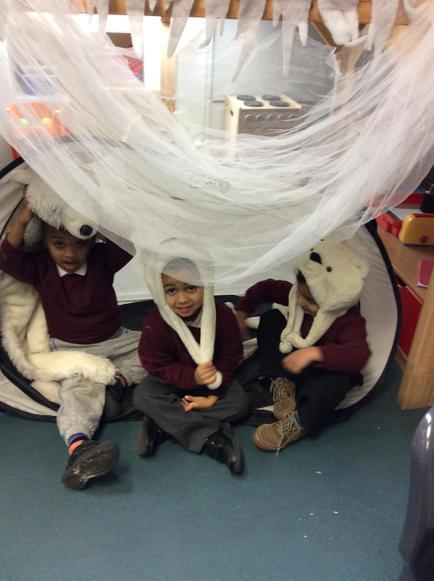 In our polar bear den