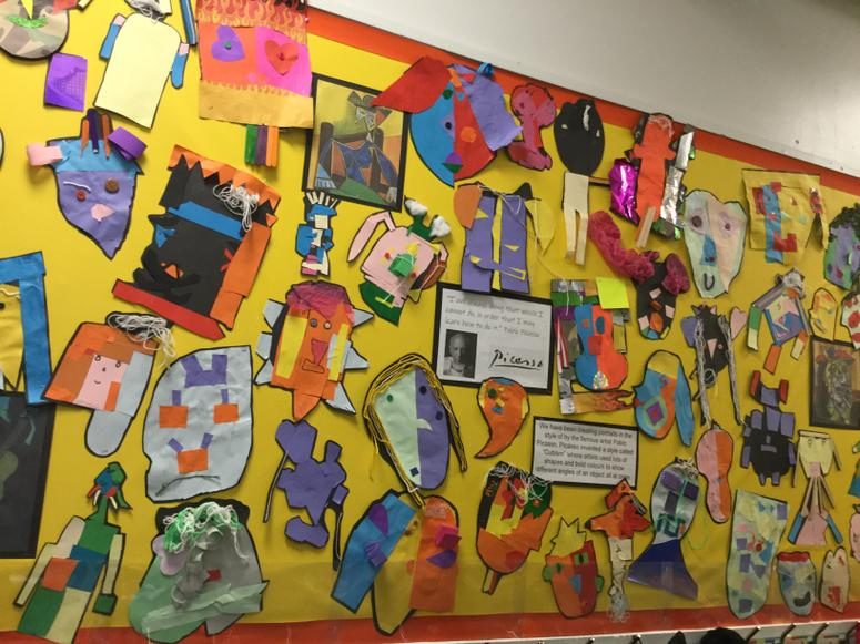 Our colourful corridor display