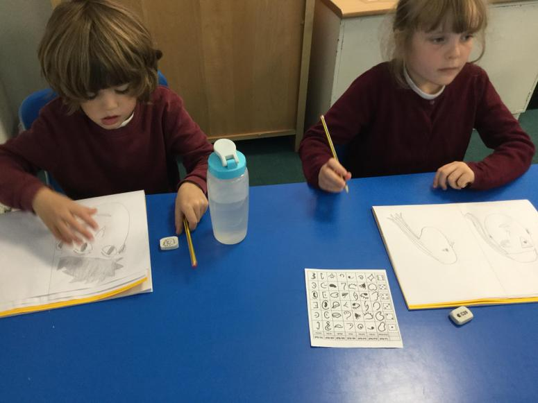 Practising our art skills