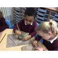 We used clay to make Diwas.