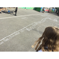 Then we placed the numbers on our 0 - 10,000 number lines.