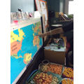 We looked at where different food came from around the world.