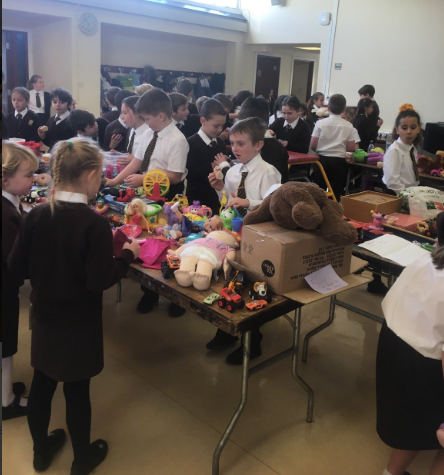 Charity toy and cake sale