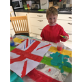 Leo getting ready for VE Day.
