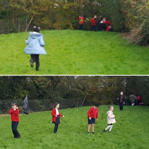 Litter picking in Southworth Class