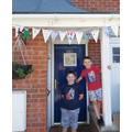 Finley and Joseph ready for VE Day.