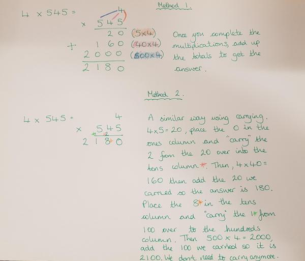 Multiplying a 3-digit number by a 1-digit number