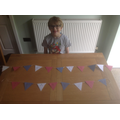 Finlay's amazing VE Day bunting
