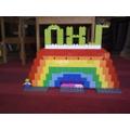 Joseph's Lego rainbow for the NHS