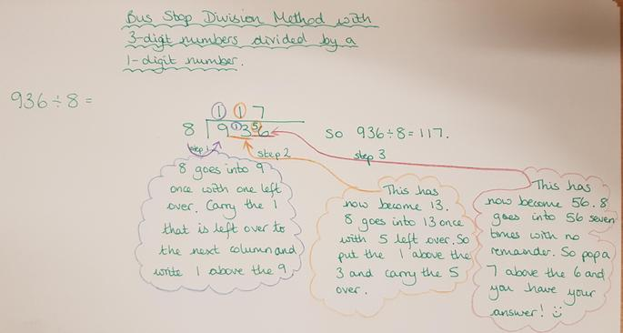 Dividing a 3-digit number by a 1-digit number
