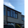 Leo's house ready for VE Day.