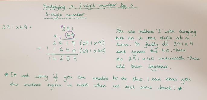 Multiplying a 3-digit number by a 2-digit number