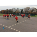 Playing relay drills in cricket