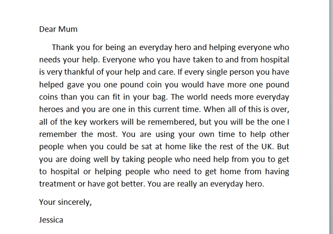 Jessica's lovely letter to her 'Everyday Hero'-her mum!.PNG