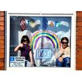 Elektra and Rhianna with their rainbow!