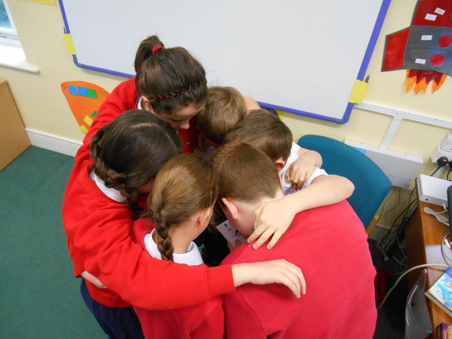 Team huddle!