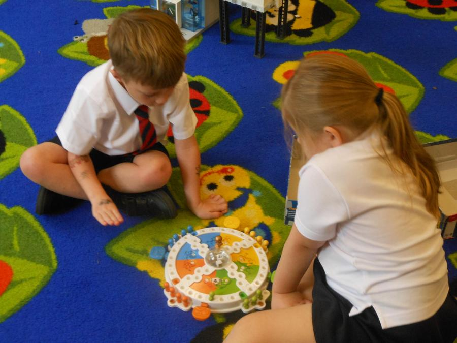 Playing with our Year 1 friends