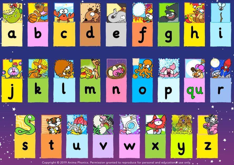 The alphabet with Anima Phonics