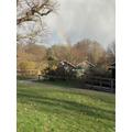Rainbow over Holmbury dorm!