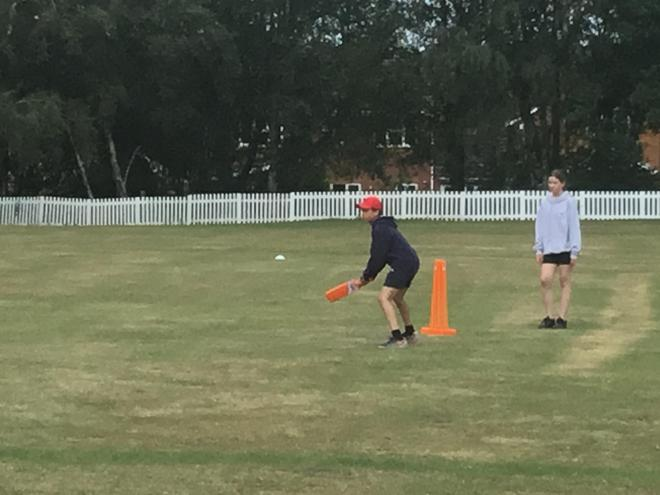 After a long Covid filled space Yr 6 are back in action enjoying some Cricket!
