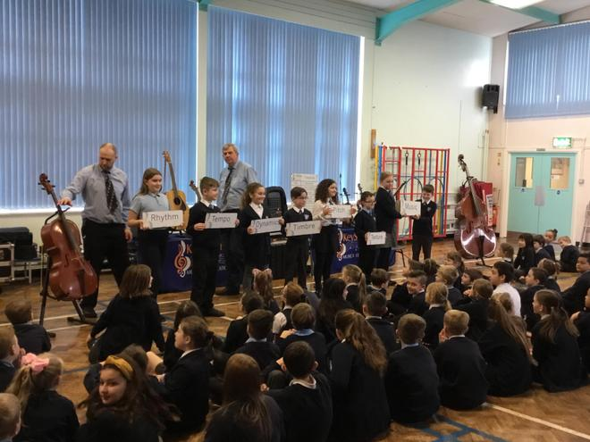 The children really enjoyed the experience of live music performed by experts!
