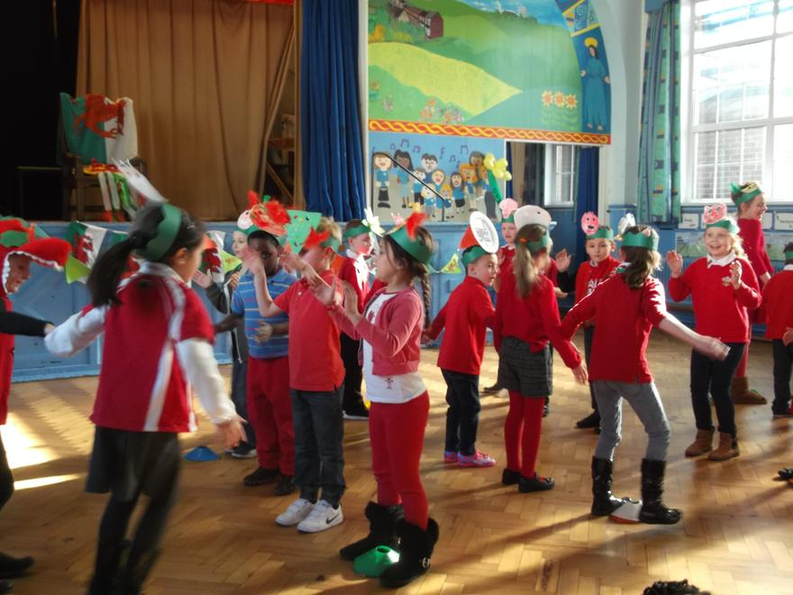 Welsh folk dancing.