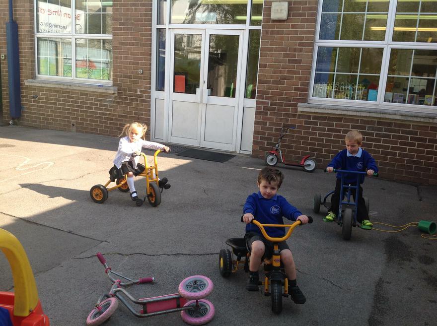 Pedal power!